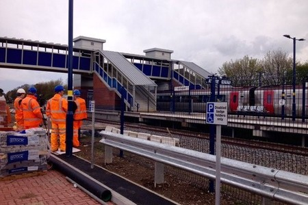 Network Rail tweeted videos and photographs of the