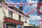 The New Rose & Crown pub, decorated for the upcoming Help for Heroes fundraising night.