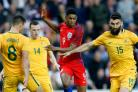 Marcus Rashford, centre, became England's youngest debutant scorer on Friday