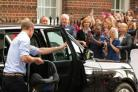 The Duke of Cambridge with newborn son Prince George