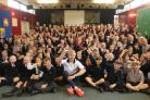 Mark Aldred leads an assembly at Winterfold House School