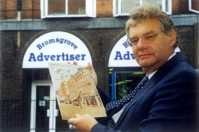 Councillor Pete Lammas holding Memory Lane - his published book - during his days with the Bromsgrove Advertiser