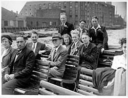 Bromsgrove Advertiser: STAFF OUTING: Webbs staff enjoy an outing on the River Thames in 1950.