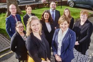 Valerie Robinson and Jayne Hill (front centre) with the Private Client Team