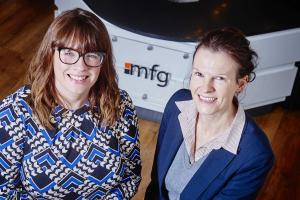l-r Emma Williams (Primrose) and Kirsten Bridgewater (mfg)