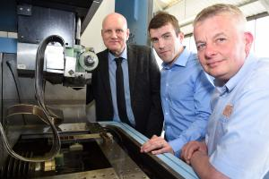 Ian Whateley (Advanced Chemical Etching), David Merchant (Ace Forming) and Chris Ball (Advanced Chemical Etching)