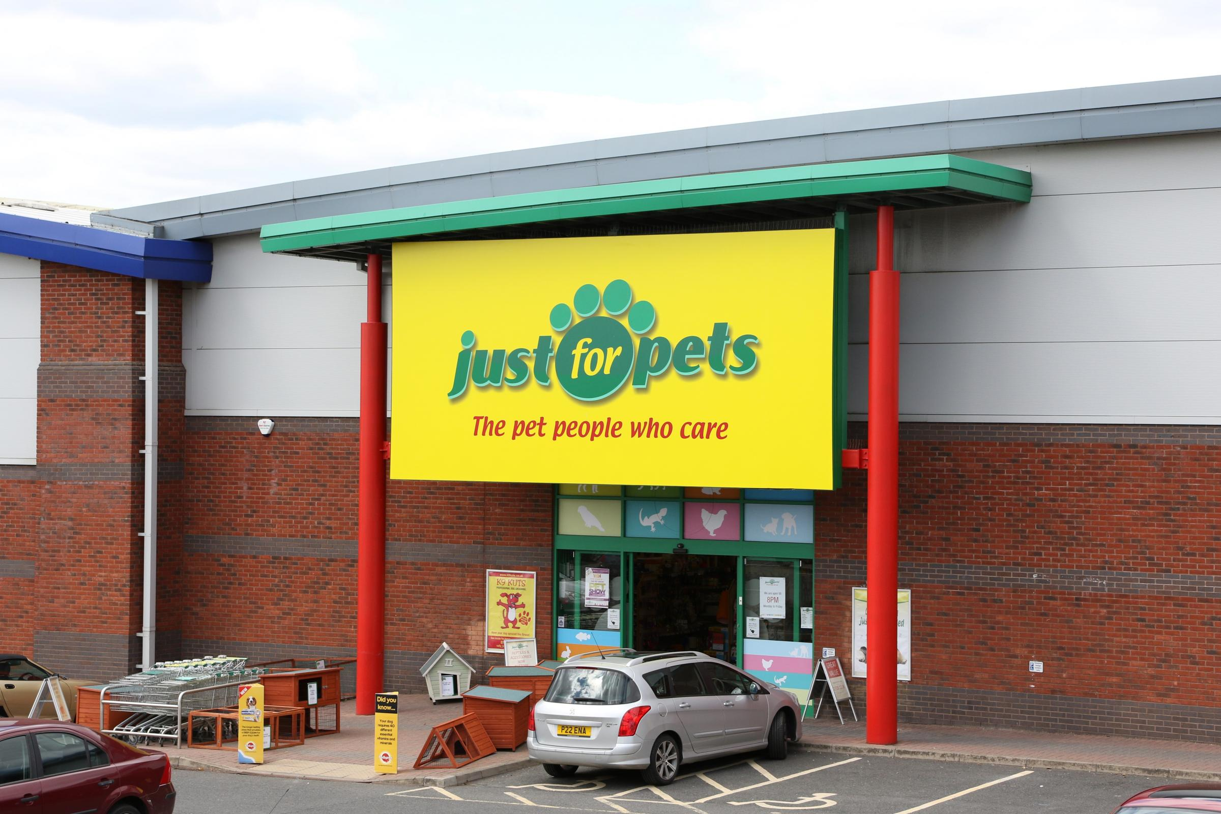 Worcester - Just for Pets store on Shrub Hill Retail Park.