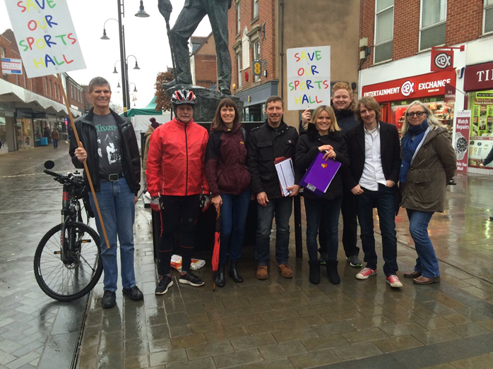 PETITION: Campaigners on the street in Bromsgrove on Saturday