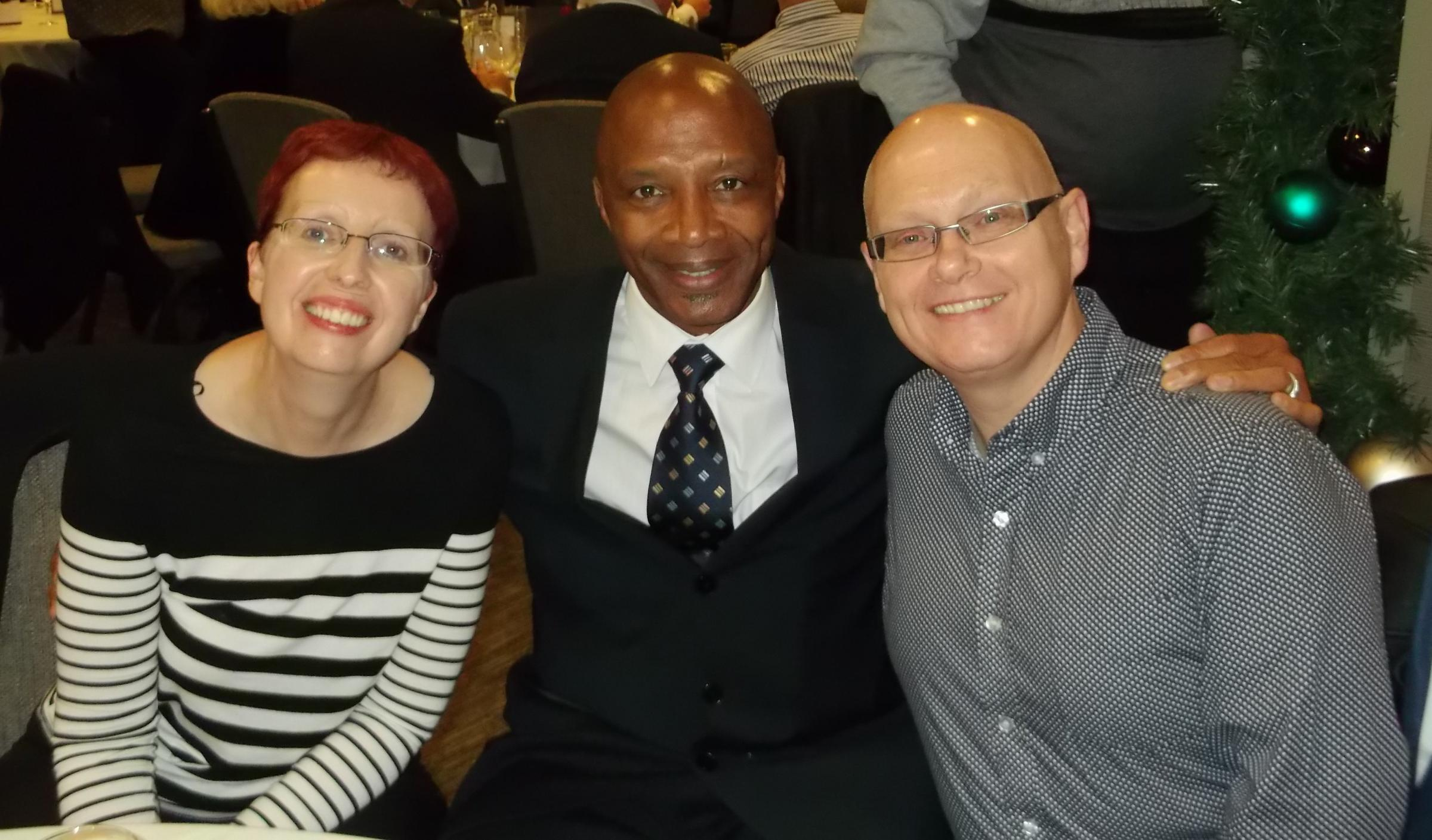 REMEMBERED: Cyrille Regis, pictured with Chris Green and wife Teresa.