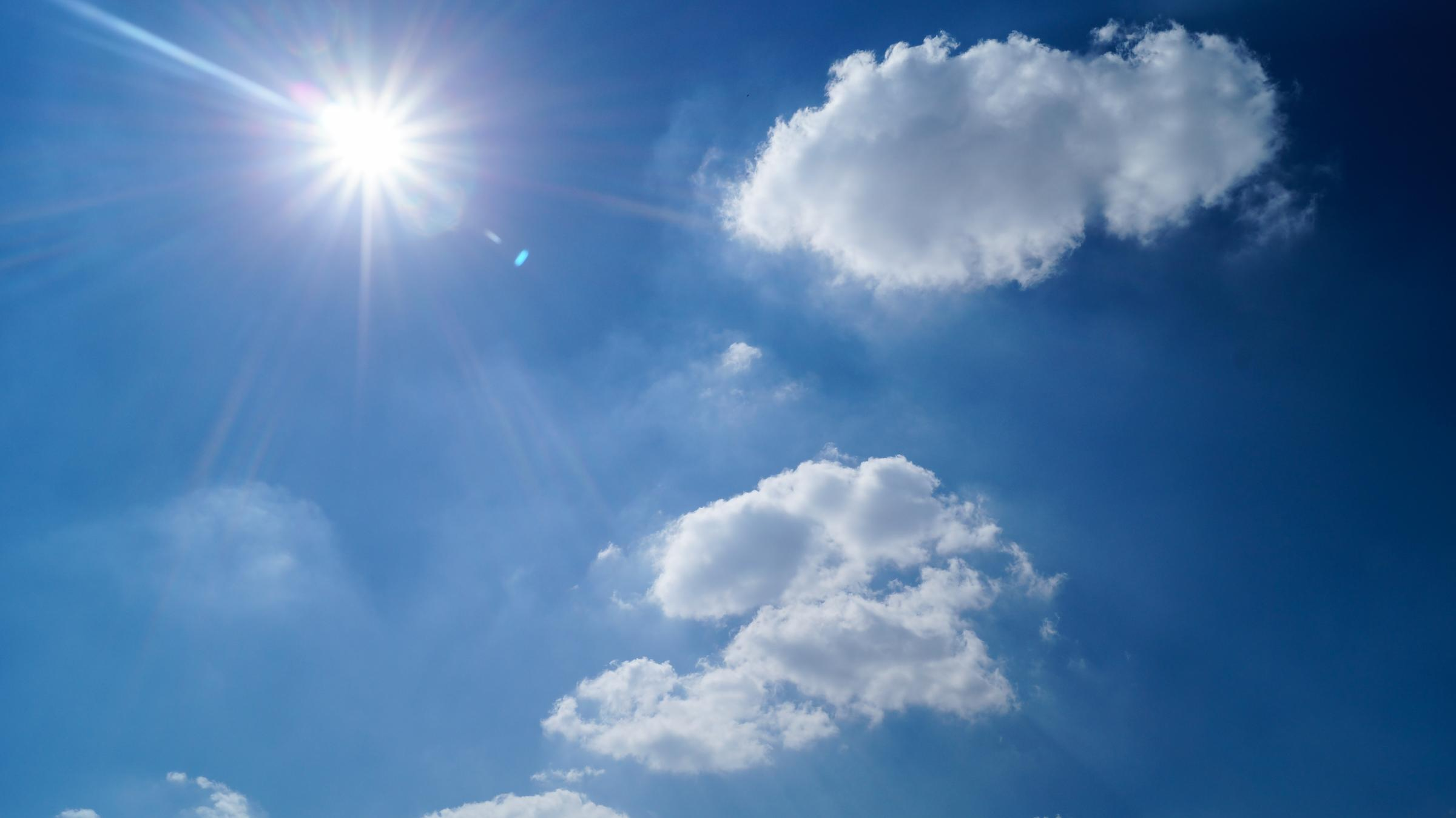 Weather: Warm sunshine