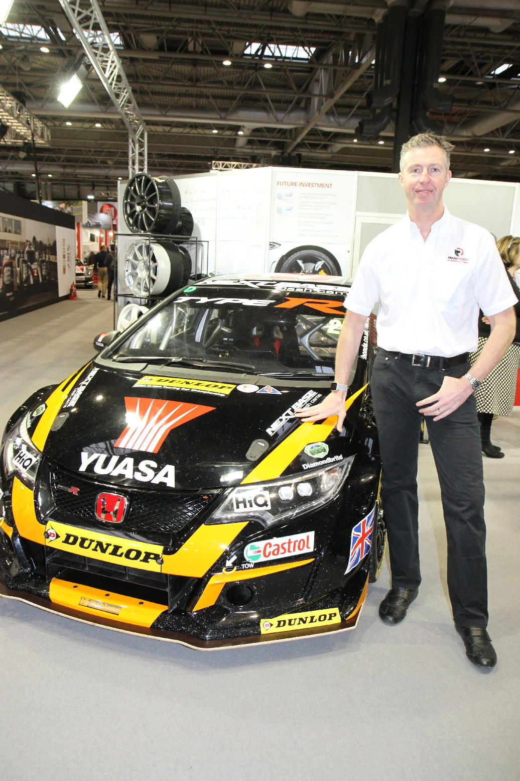 Matt Neal with last year's Honda Civic. Picture: DARREN PRICE