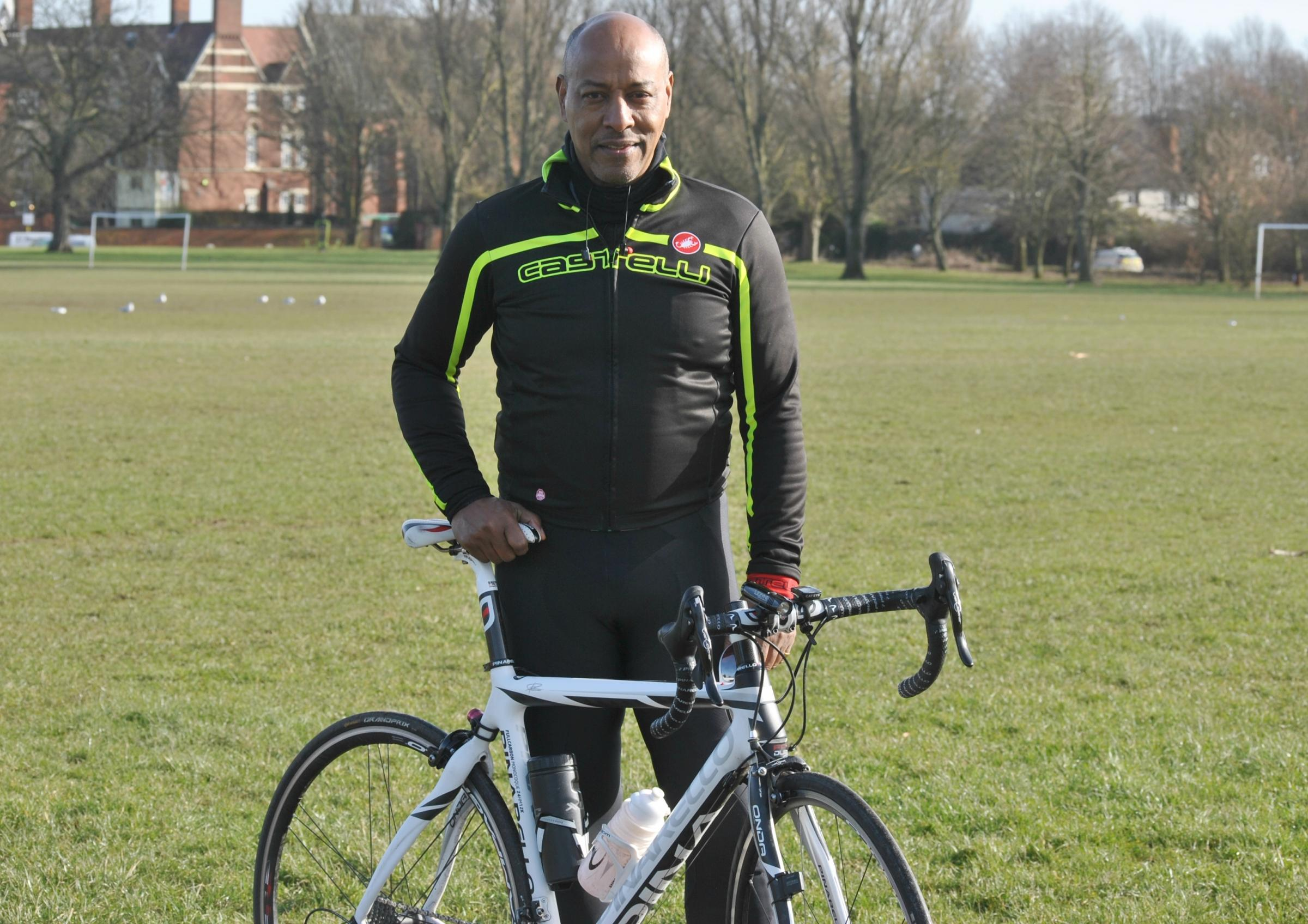 Brendon Batson for Birmingham St Mary's Ride the Reservoir