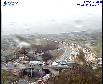 M5 southbound at J4 is closed. Pic: Highways England