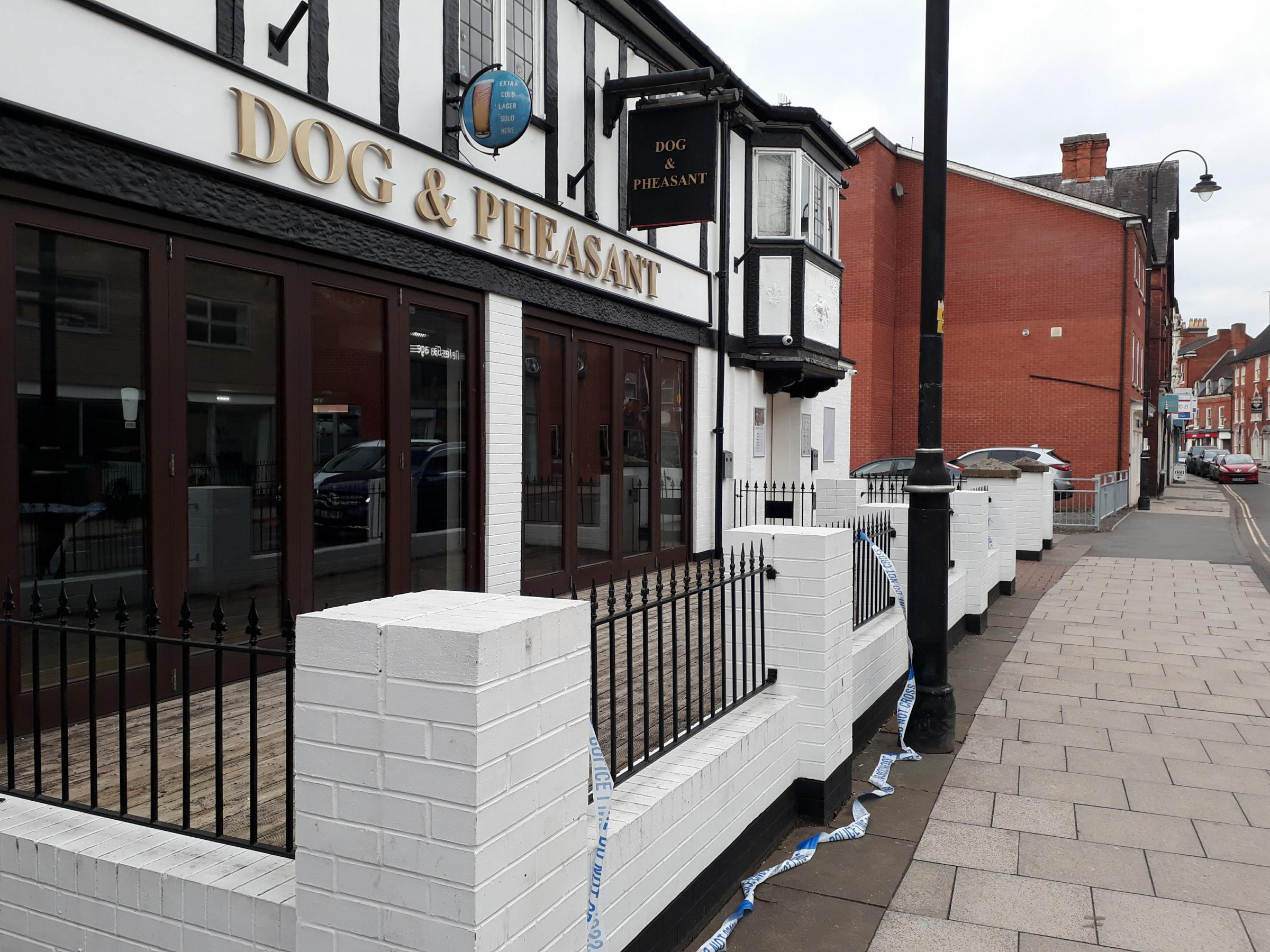 The Dog and Pheasant, where Jay was found in cardiac arrest
