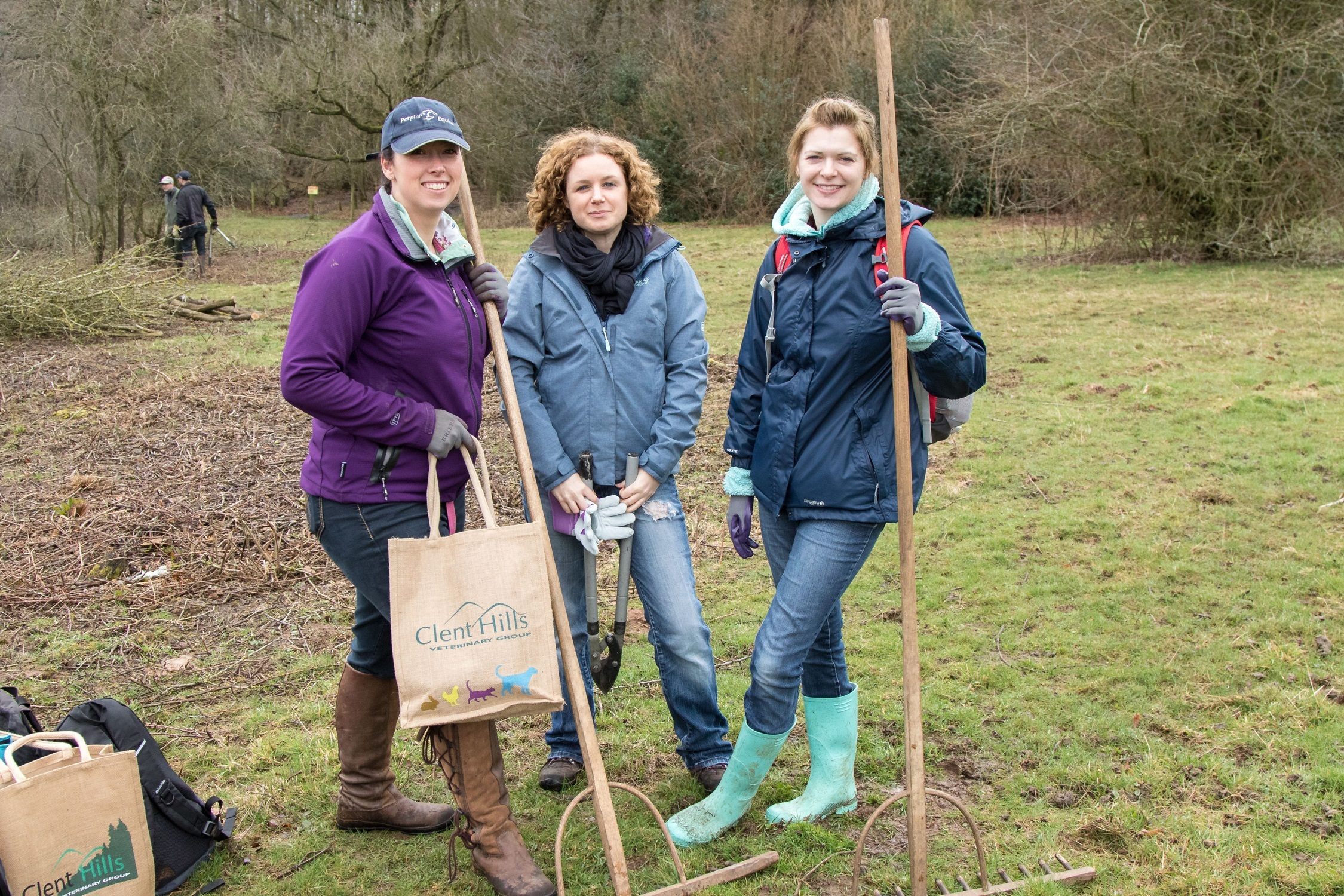 Rebekka Fiorani, Helen Beesley and Amy Holloway, of Clent Hills Vets