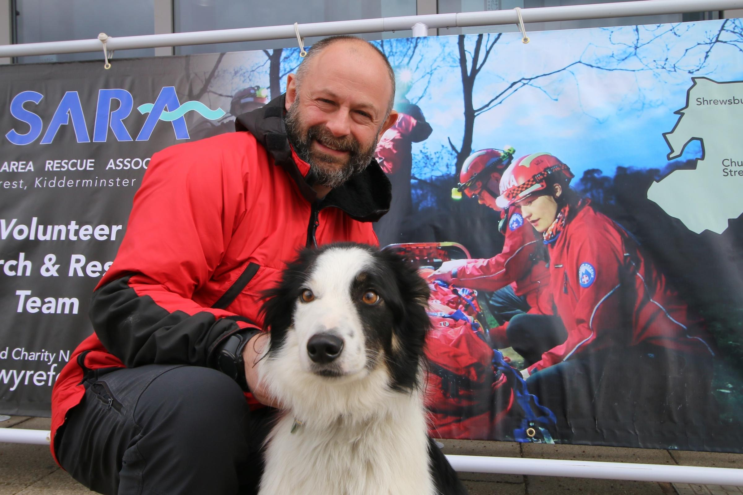 Dyno, pictured with Matthew, has gone from rescued to rescuer