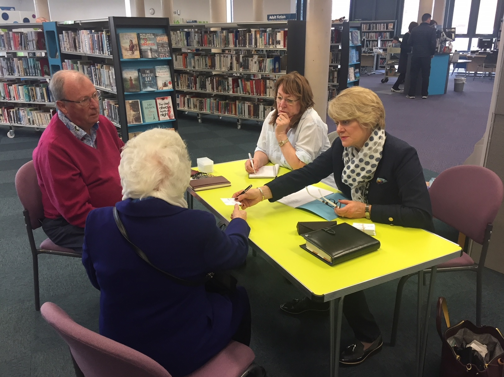 Cllr Karen May at the last surgery