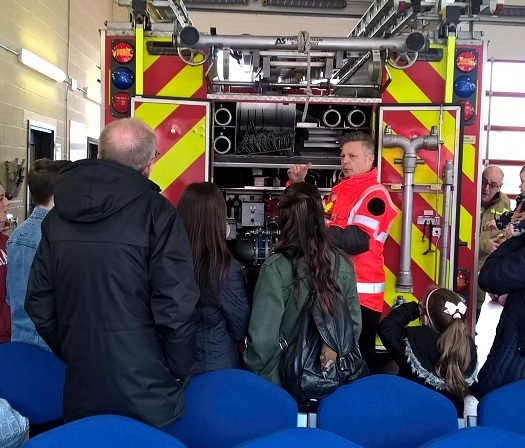 Foster families at Bromsgrove Fire Station