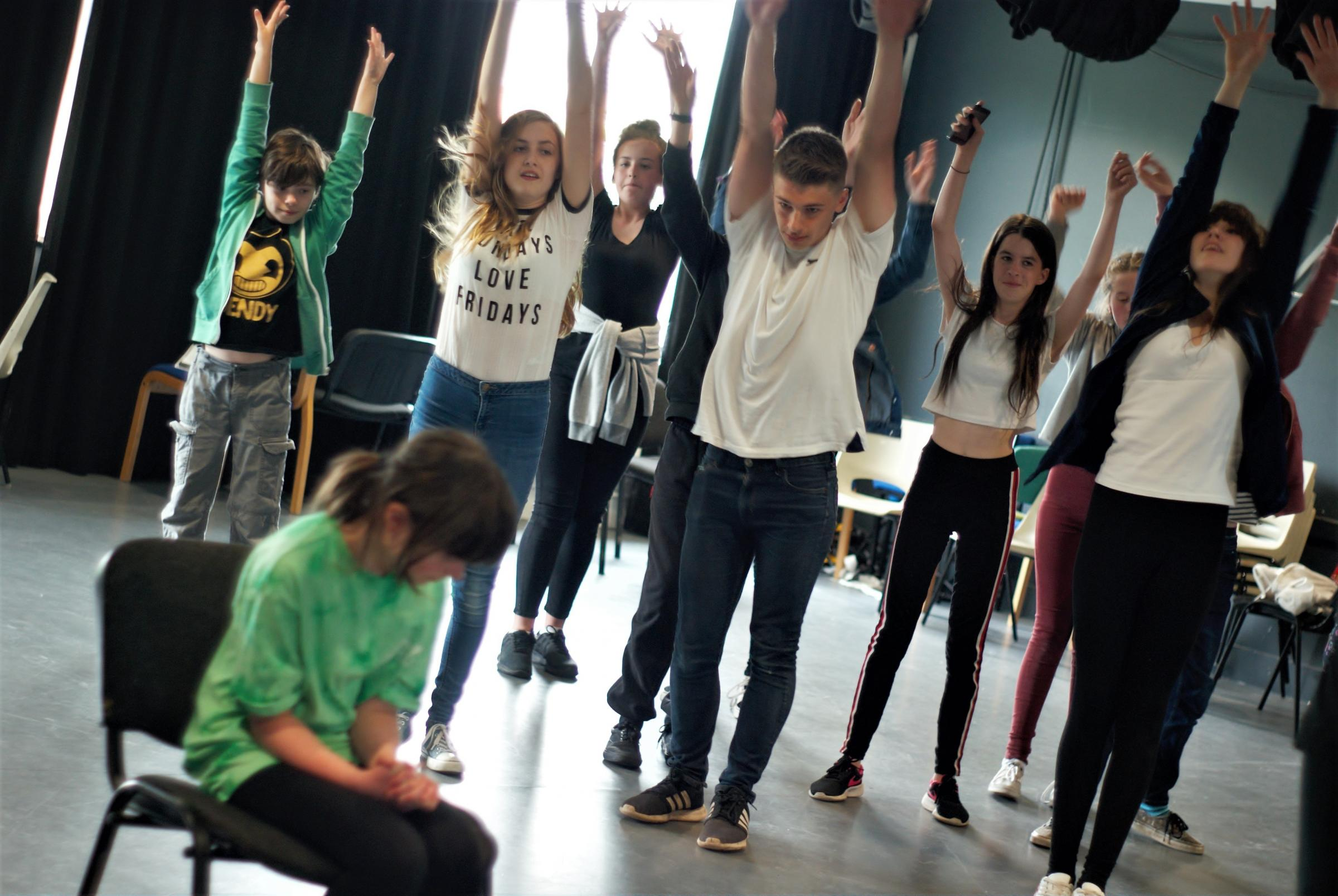 Rehearsals underway for Cloud Busting, Artrix's play on bullying as part of its Youth Mental Health Arts Festival