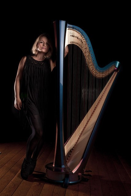Harpist Eleanor Turner (Picture by Ivan Barry)