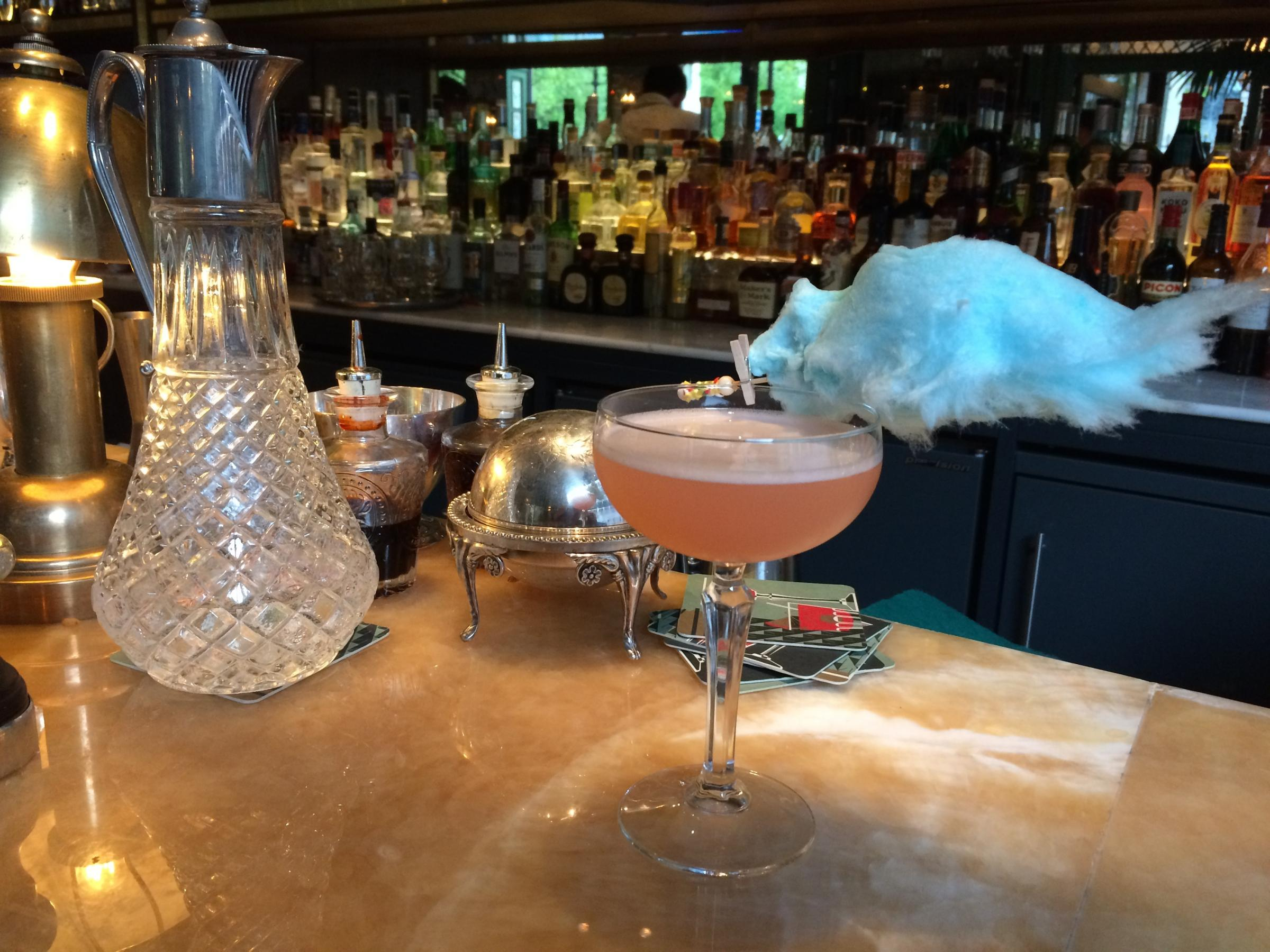 The colourful Candy Floss Fizz at The Ivy