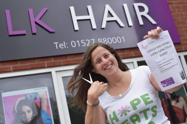 A CUT ABOVE: Sarah Milburn is inviting residents to join the fundraiser at LK Hair in Aston Fields