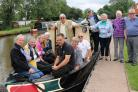 Stroke suffers on board Emma the canal boat, along with members of Bromsgrove Lions Club Anglo Welsh Waterway Holidays