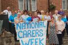 Staff at St John's Court in Bromsgrove celebrate National Carers Week