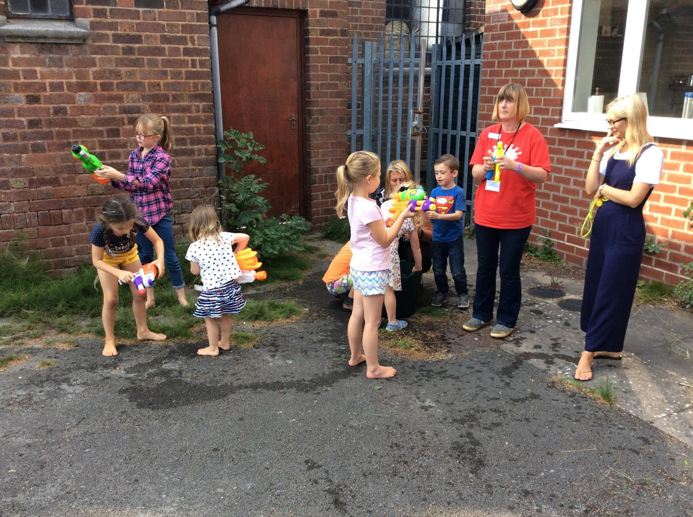 Children enjoying a Messy Church event at Beacon Church Centre