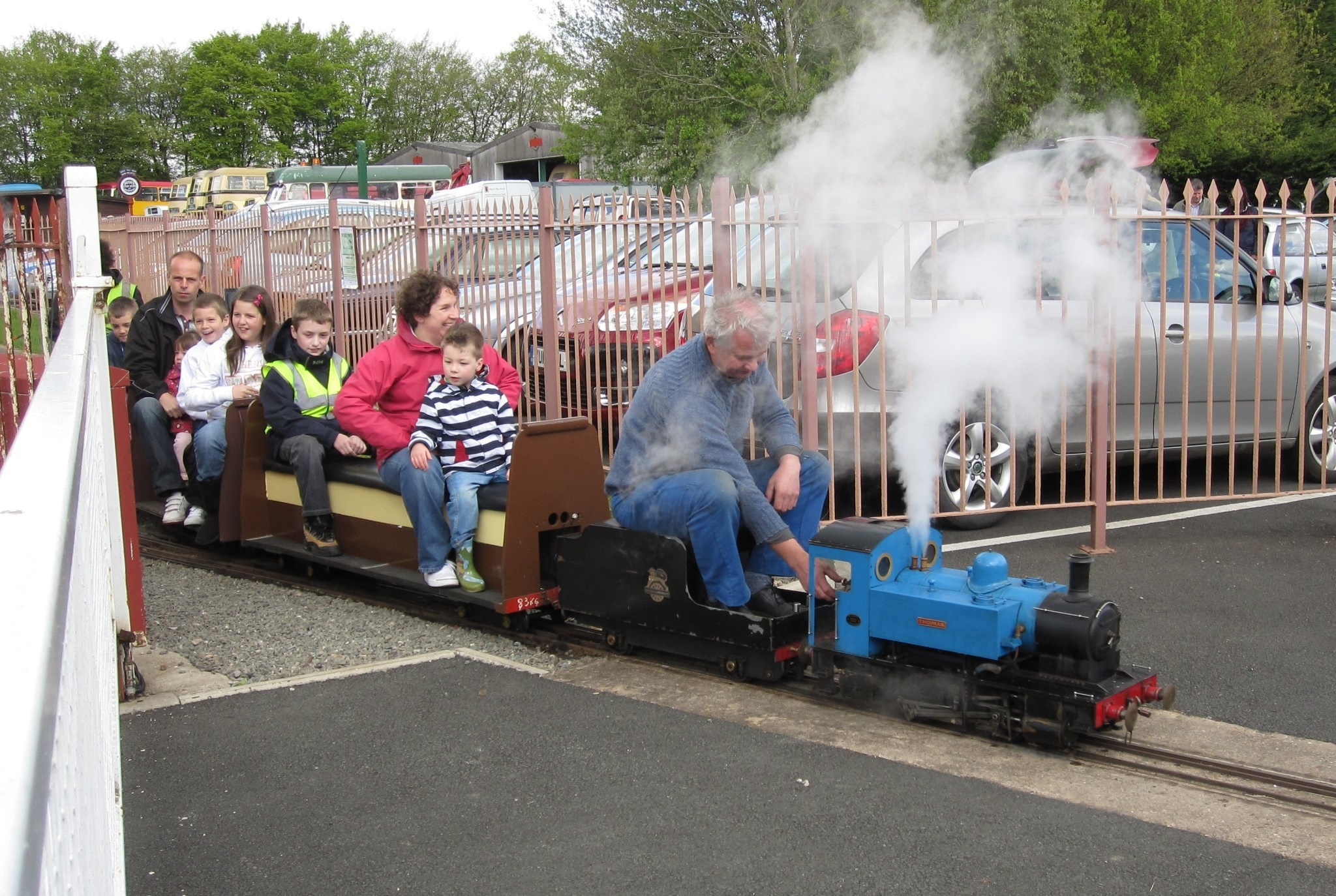 The children's train at Wythall Transport Museum