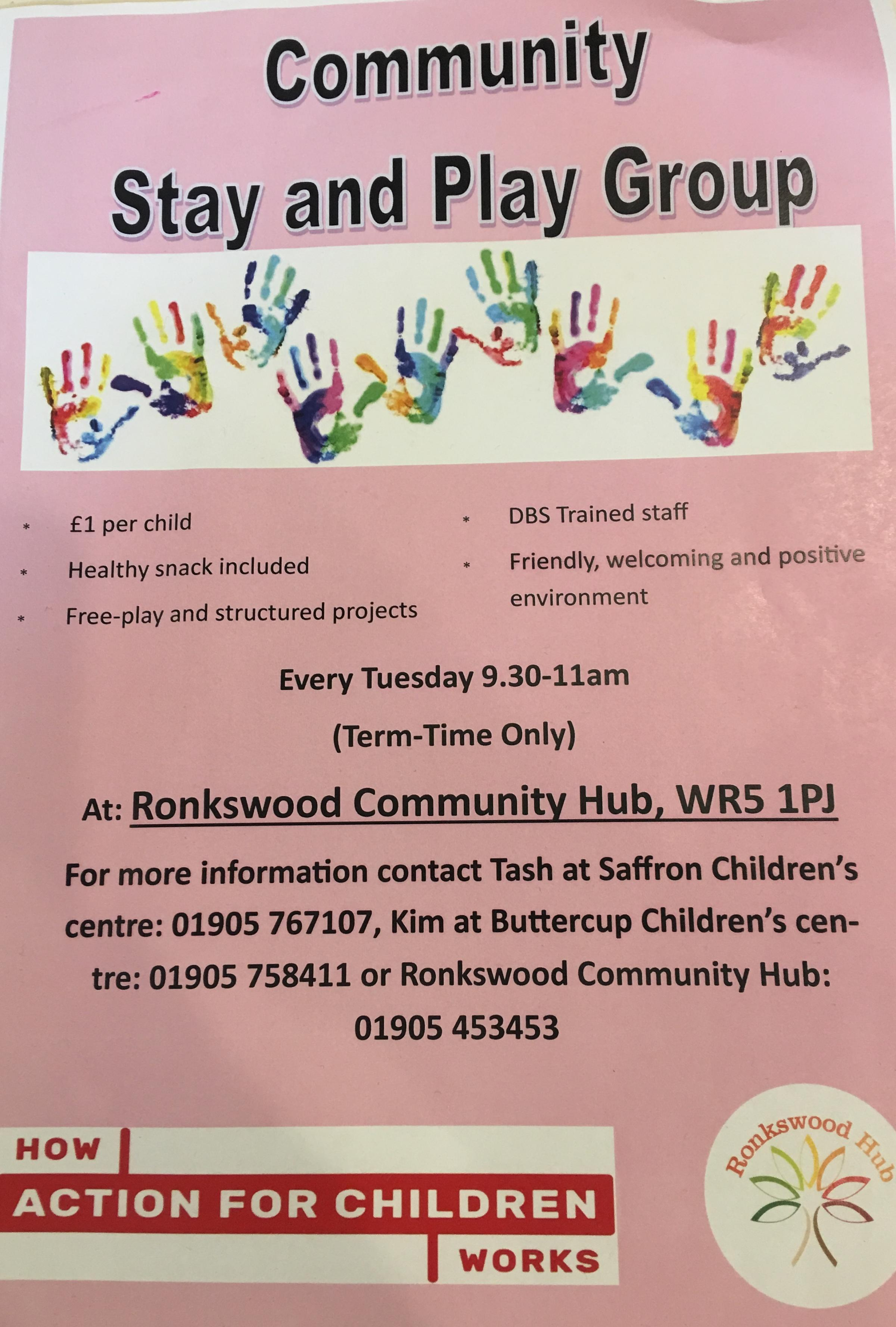 Ronkswood Community Hub  Stay & Play group