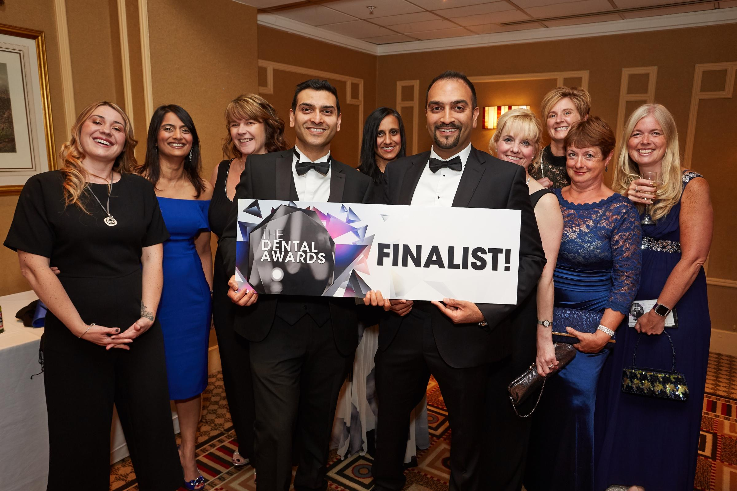 Staff at New Road Dental Practice at the 2018 Dental Awards ceremony. Photo by Teofil Rewers