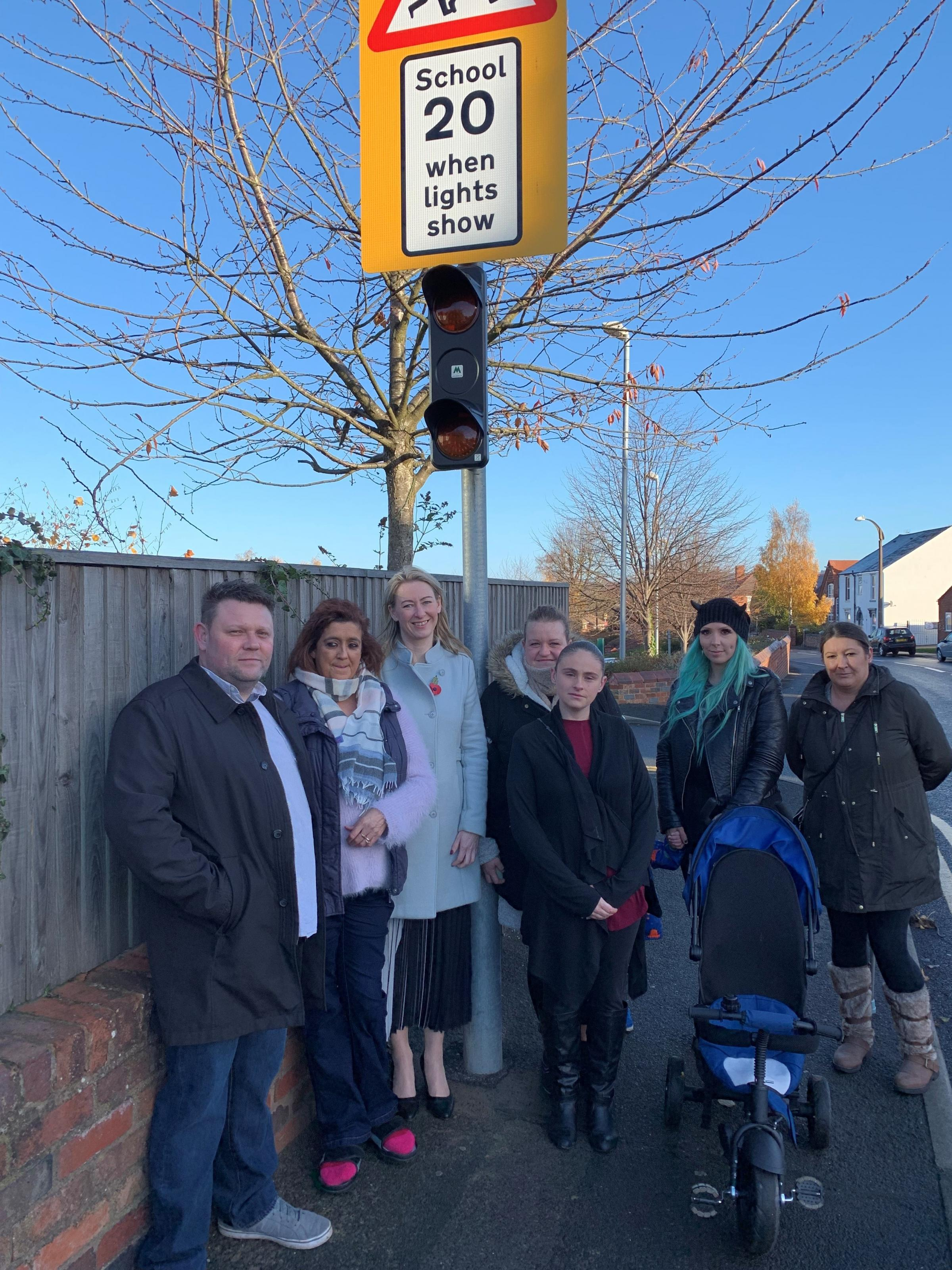 From left: Campaigners James Clinton and Lisa Scully, Colley Gate Primary headteacher Helen Hale and several members of the school's Parent Teacher Association.