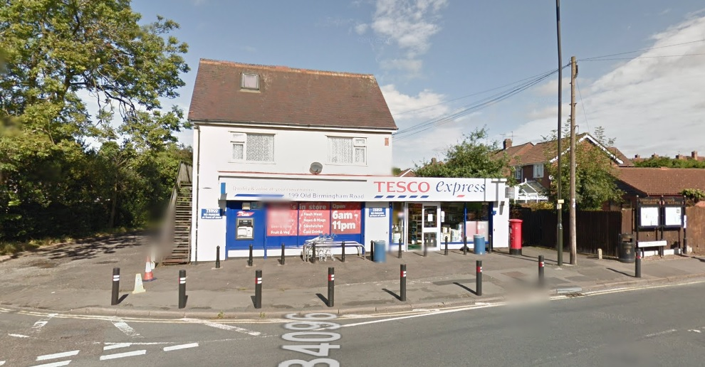 Tesco Express on Old Birmingham Road. Photo: Google Maps