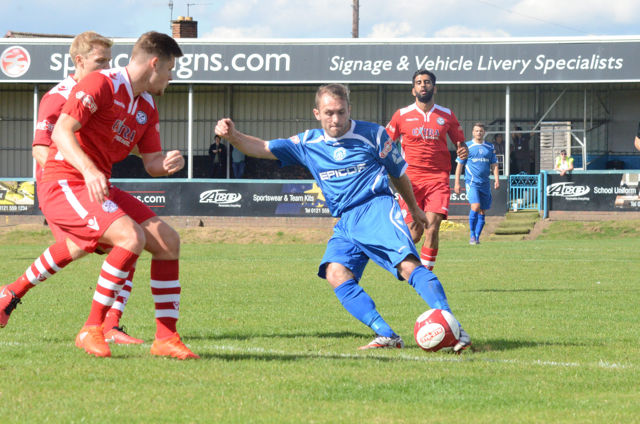Lee Chilton during his last spell with Halesowen Town. Photo courtesy of Halesowen Town.