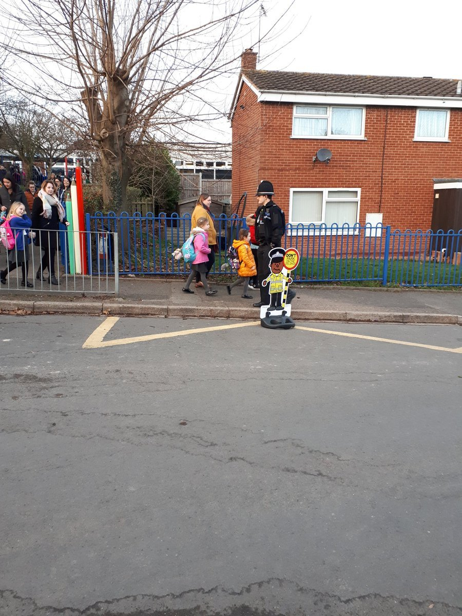 The 'Mini Officers' have been placed at schools around Worcestershire to tackle speeding (Credit: @BromsgroveCops)