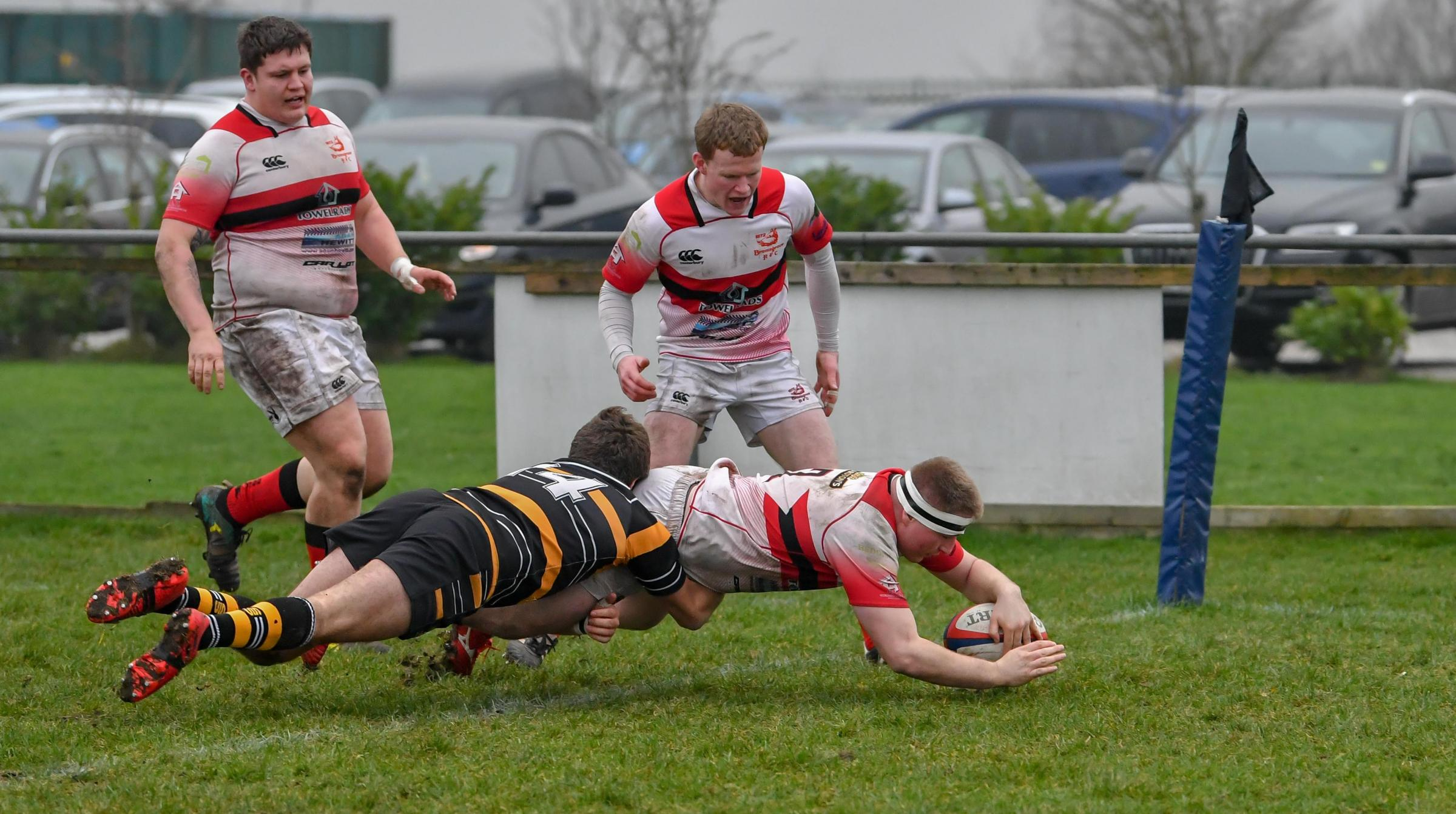 James Gunther scores try number six for the Boars. Photo by Andrew Jepson