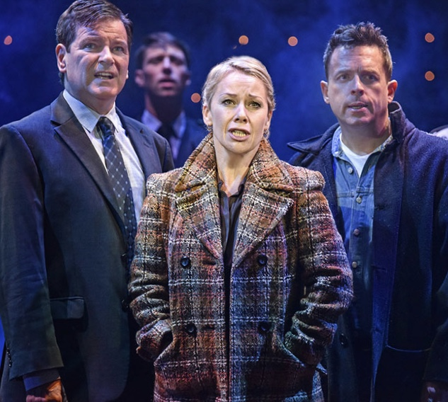 MOVING TALE: Mark Hutchinson (left), Linzi Hateley and Sean Jones star in Blood Brothers.
