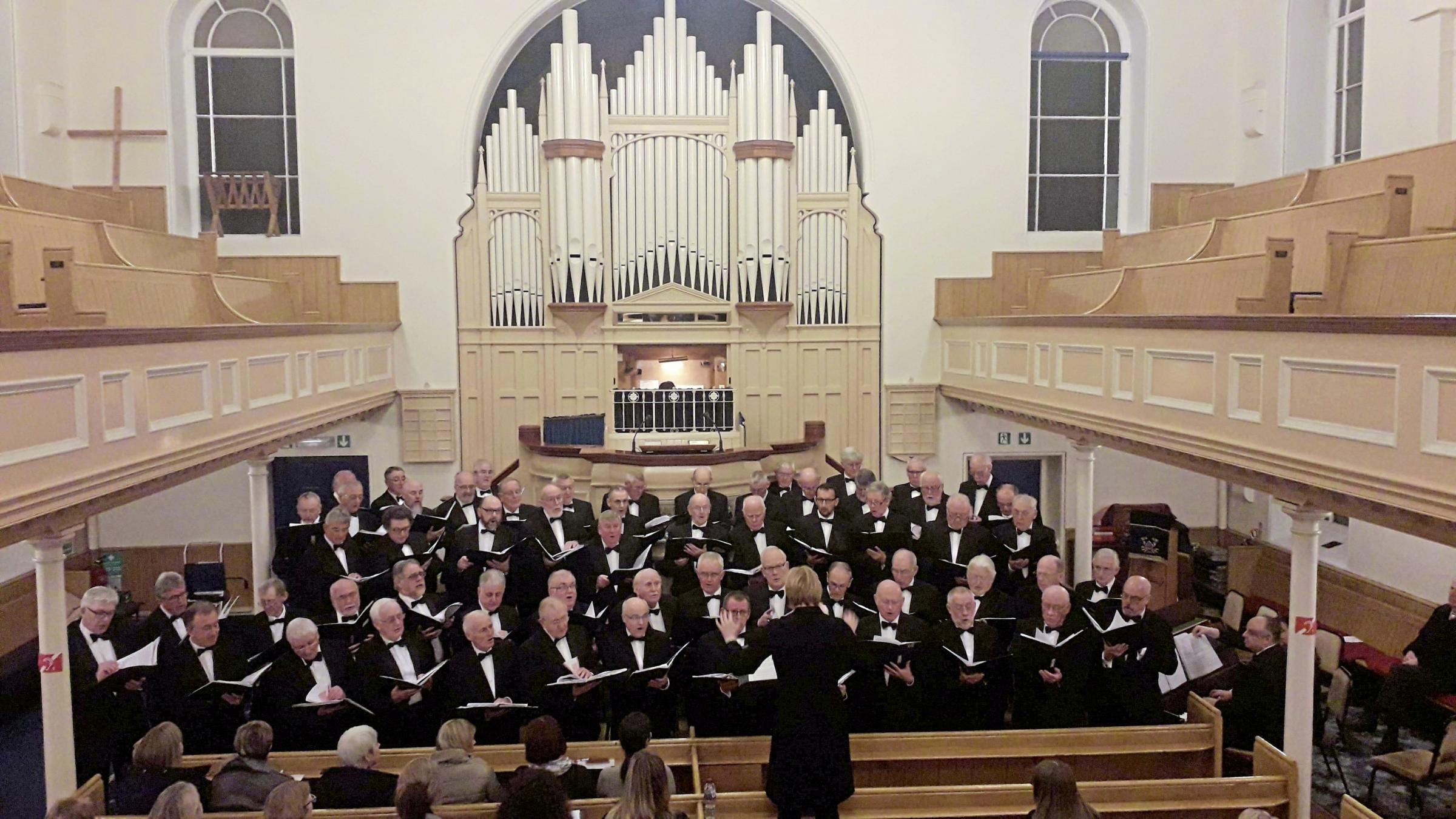 Trelawnyd Male Voice Choir and conductor Ann Atkinson will join for the event in Rhyl this week