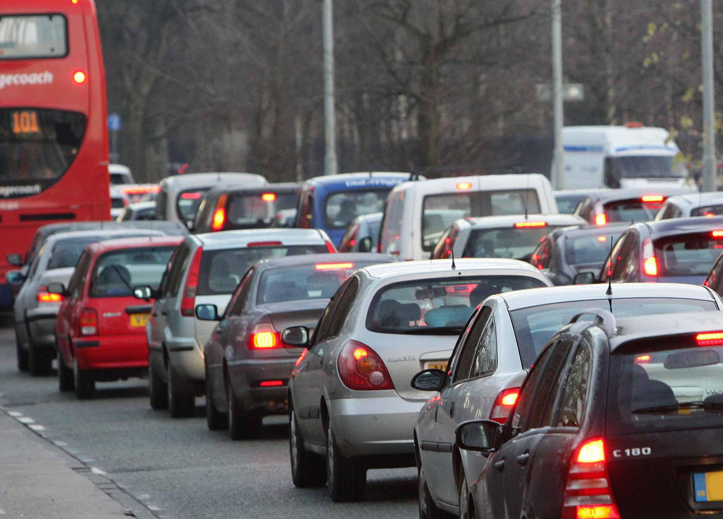 File photo dated 10/12/08 of early morning road congestion which costs the UK economy nearly £8 billion last year, according to new analysis. PRESS ASSOCIATION Photo. Issue date: Tuesday February 12, 2019. Transport data firm Inrix calculated