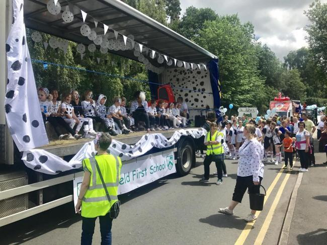 Fairfield First School in a previous Bromsgrove Carnival