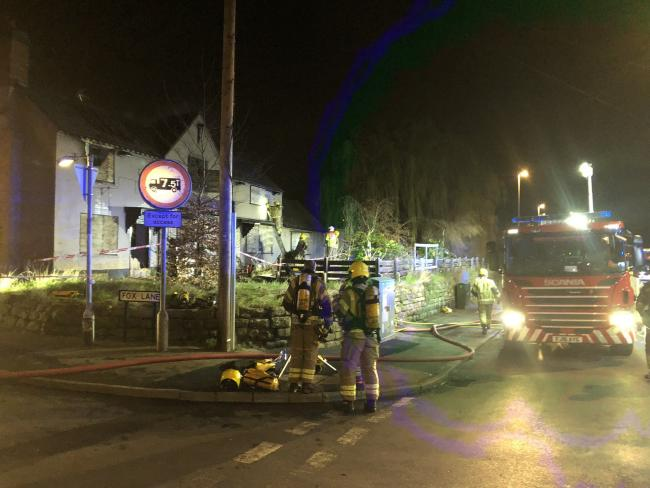 The fire took place at the Greyhound pub on March 11. Photo Robert Allen on Twitter