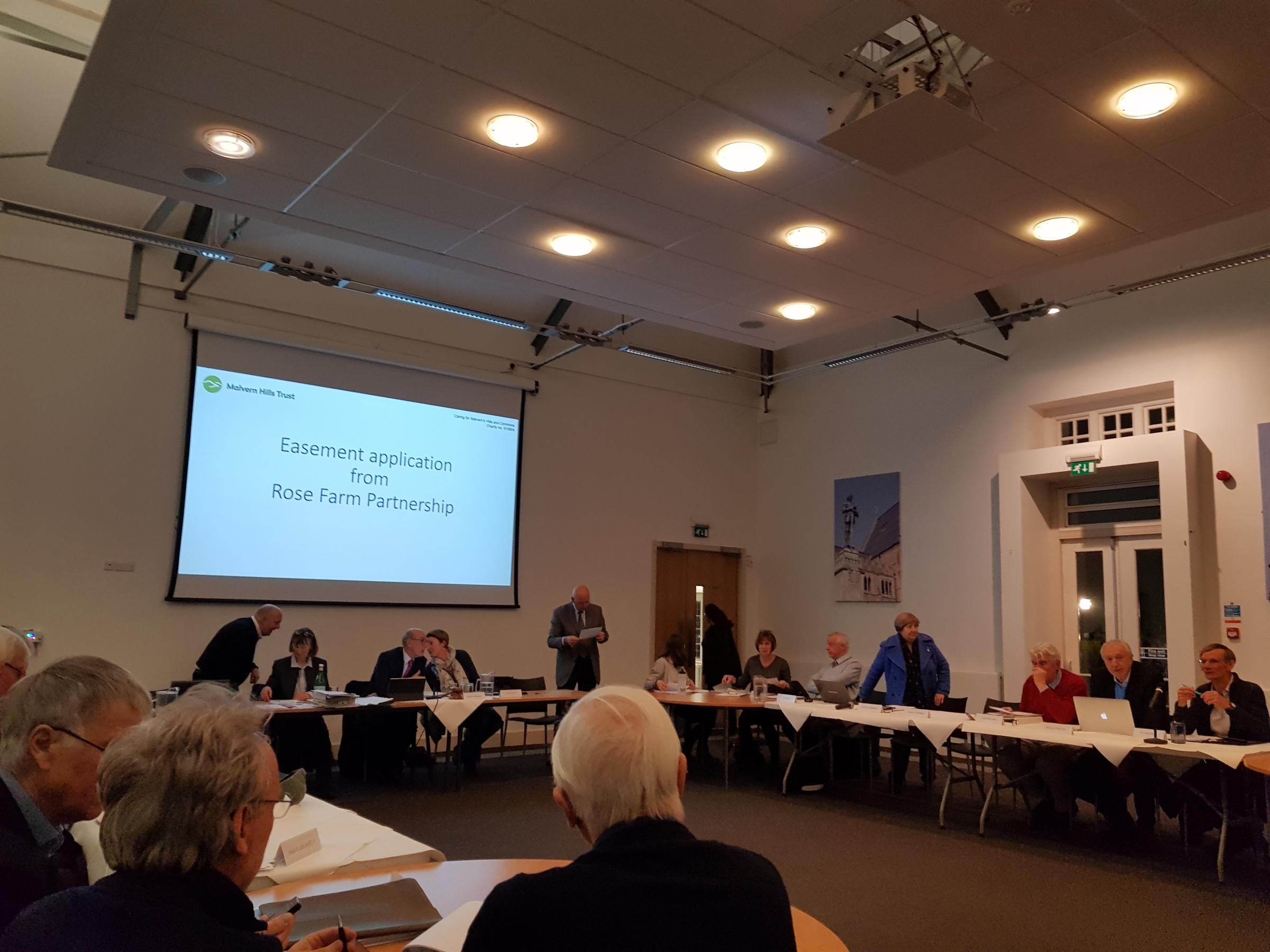 MEETING: The plan was rejected at a special meeting of Malvern Hills Trust