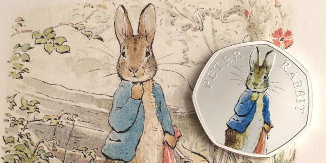 The new Peter Rabbit coin being released by the Royal Mint.