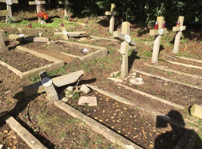 Flashback to last year when graves were damaged by falling trees at the cemetery