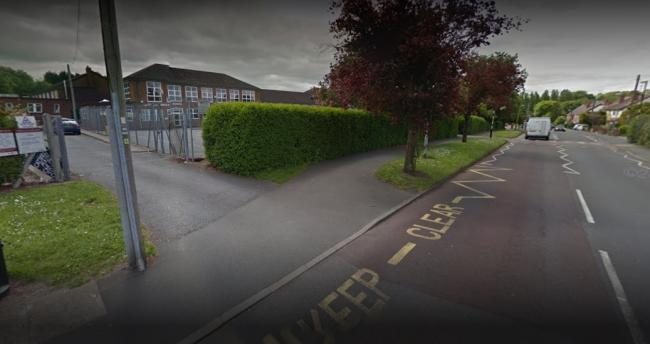 The incident happened outside Catshill Middle School at around 5.30pm on Monday, May 13. Picture: Google Maps.